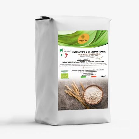 Farina T2 di Grano tenero Bio 1 Kg  Cantina Bruscia